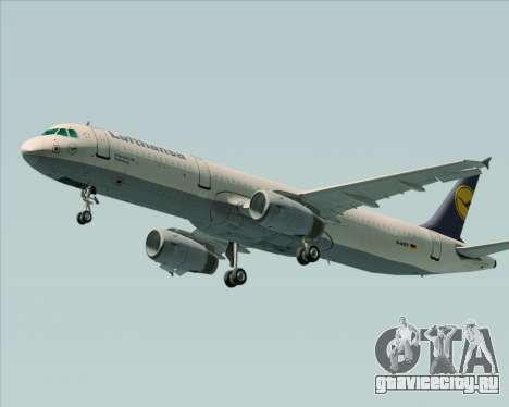 Airbus A321-200 Lufthansa для GTA San Andreas вид справа