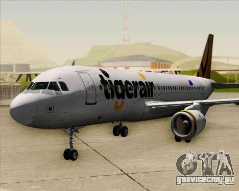 Airbus A320-200 Tigerair Australia для GTA San Andreas вид сзади