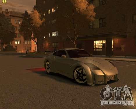 Nissan 350Z для GTA 4 вид справа