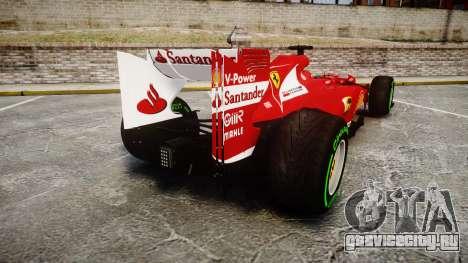 Ferrari F138 v2.0 [RIV] Alonso TIW для GTA 4 вид сзади слева