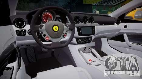 Ferrari FF 2012 Pininfarina Yellow для GTA 4 вид изнутри