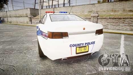 GTA V Cheval Fugitive LS Liberty Police [ELS] для GTA 4 вид сзади слева
