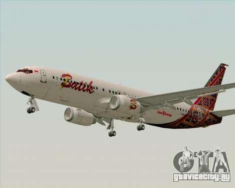 Boeing 737-800 Batik Air для GTA San Andreas вид изнутри