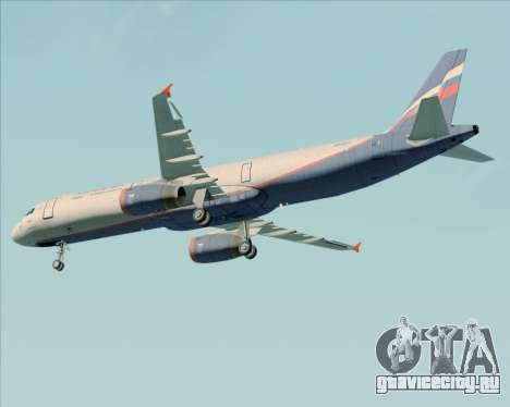 Airbus A321-200 Aeroflot - Russian Airlines для GTA San Andreas вид сверху