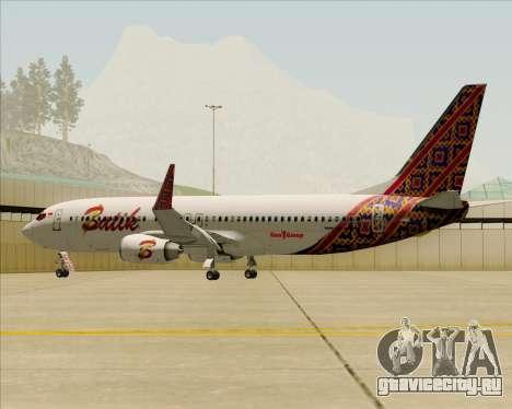 Boeing 737-800 Batik Air для GTA San Andreas двигатель