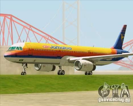Airbus A321-200 Air Jamaica для GTA San Andreas вид слева