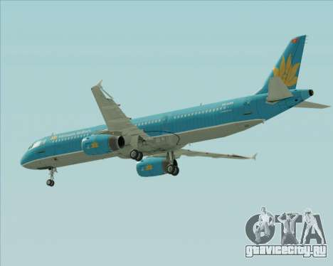 Airbus A321-200 Vietnam Airlines для GTA San Andreas вид снизу