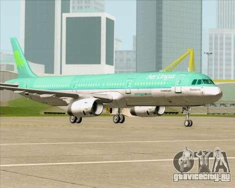 Airbus A321-200 Aer Lingus для GTA San Andreas вид снизу