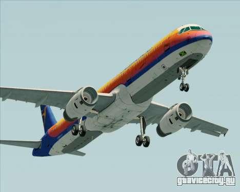 Airbus A321-200 Air Jamaica для GTA San Andreas вид сзади слева