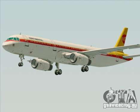 Airbus A321-200 Continental Airlines для GTA San Andreas вид слева