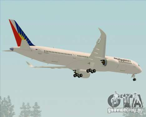 Airbus A350-900 Philippine Airlines для GTA San Andreas вид сверху