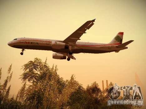 Airbus A321-232 Middle East Airlines для GTA San Andreas салон