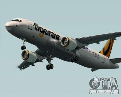Airbus A320-200 Tigerair Australia для GTA San Andreas вид сзади слева