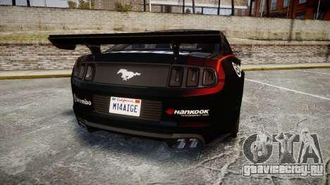 Ford Mustang GT 2014 Custom Kit PJ4 для GTA 4 вид сзади слева