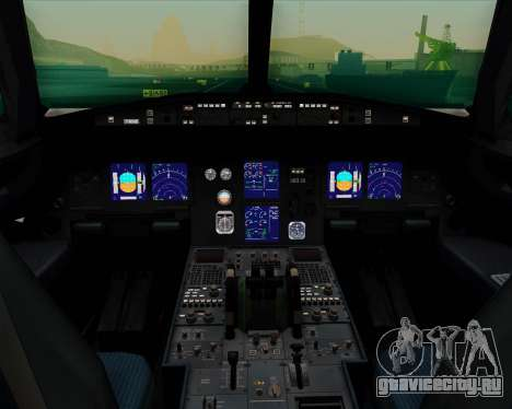 Airbus A321-200 Continental Airlines для GTA San Andreas салон