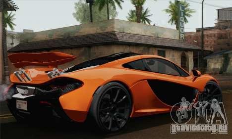 McLaren P1 Black Revel для GTA San Andreas вид слева