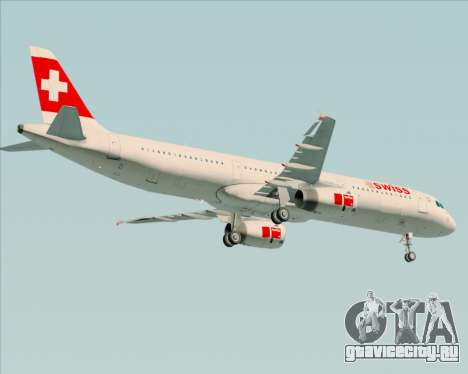 Airbus A321-200 Swiss International Air Lines для GTA San Andreas вид справа