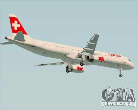 Airbus A321-200 Swiss International Air Lines для GTA San Andreas вид справа