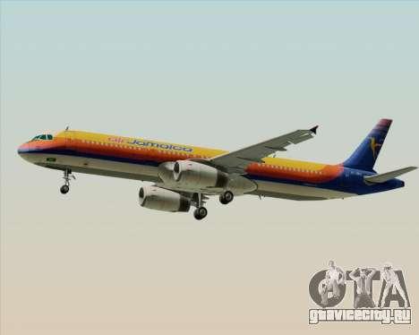 Airbus A321-200 Air Jamaica для GTA San Andreas вид справа