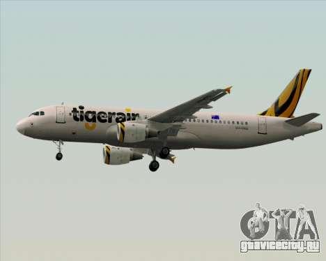 Airbus A320-200 Tigerair Australia для GTA San Andreas вид снизу