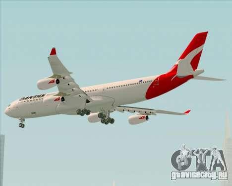 Airbus A340-300 Qantas для GTA San Andreas вид сзади