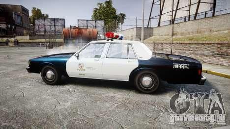 Chevrolet Impala 1985 LAPD [ELS] для GTA 4 вид слева
