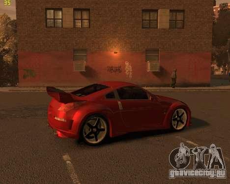 Nissan 350Z для GTA 4 вид сзади слева