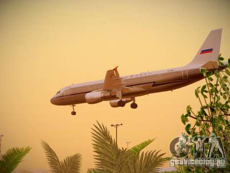 Airbus A320-214 Aeroflot Retrojet для GTA San Andreas вид сбоку