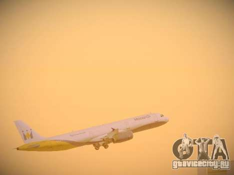 Airbus A321-232 Monarch Airlines для GTA San Andreas двигатель