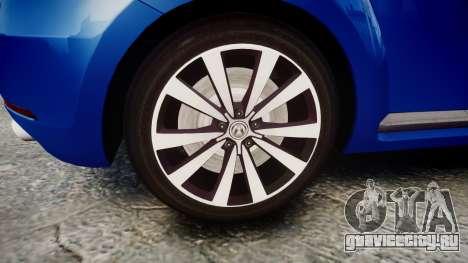 Volkswagen Beetle A5 Fusca для GTA 4 вид сзади
