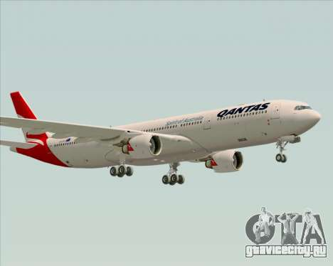 Airbus A330-300 Qantas (New Colors) для GTA San Andreas вид сзади слева