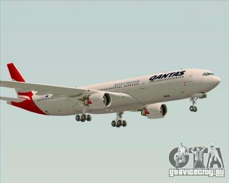 Airbus A330-300 Qantas (New Colors) для GTA San Andreas вид сзади слева