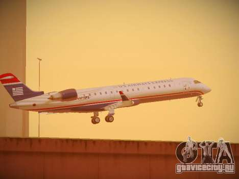 Bombardier CRJ-700 US Airways Express для GTA San Andreas вид сверху