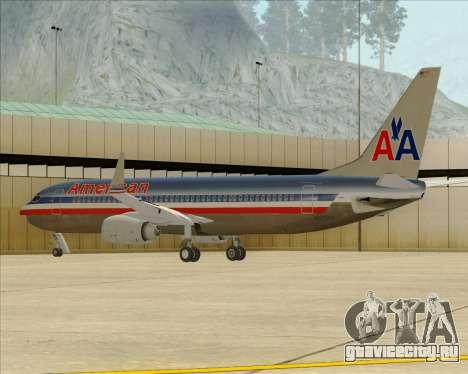 Boeing 737-800 American Airlines для GTA San Andreas колёса