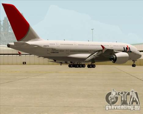 Airbus A380-800 Japan Airlines (JAL) для GTA San Andreas вид изнутри