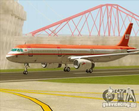 Airbus A321-200 LTU International для GTA San Andreas вид сбоку