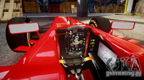 Ferrari F138 v2.0 [RIV] Massa TSD для GTA 4 вид изнутри