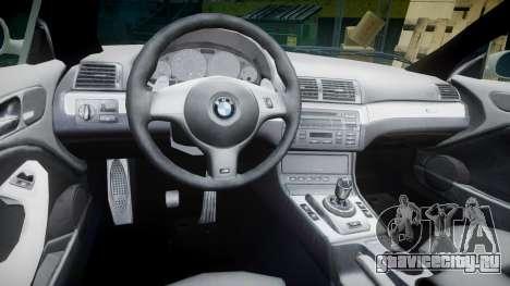 BMW M3 E46 2001 Tuned Wheel White для GTA 4 вид сзади