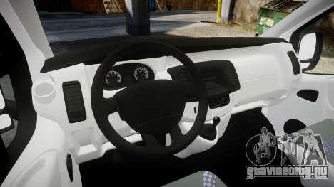 Renault Trafic Police Nationale для GTA 4 вид сзади