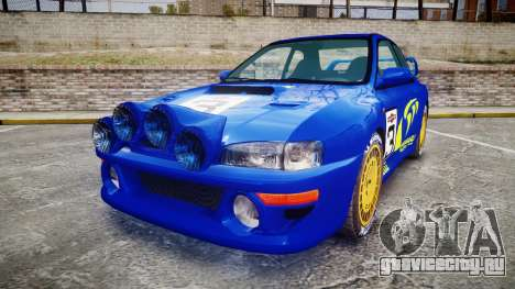 Subaru Impreza WRC 1998 Rally v2.0 Yellow для GTA 4