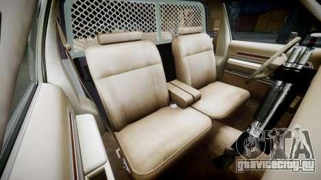 Ford LTD Crown Victoria 1987 Police CHP1 [ELS] для GTA 4 вид изнутри