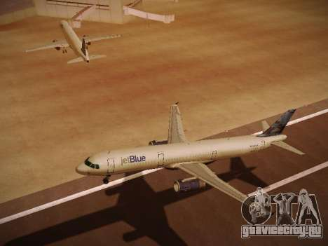 Airbus A321-232 jetBlue Do-be-do-be-blue для GTA San Andreas вид сбоку