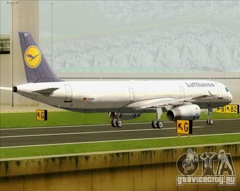 Airbus A321-200 Lufthansa для GTA San Andreas вид изнутри