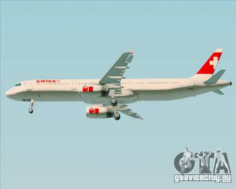 Airbus A321-200 Swiss International Air Lines для GTA San Andreas вид сбоку