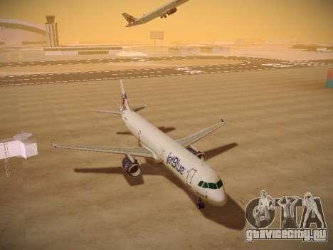 Airbus A321-232 jetBlue I love Blue York для GTA San Andreas вид сзади