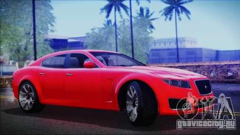 Lampadati Felon для GTA San Andreas вид сзади слева