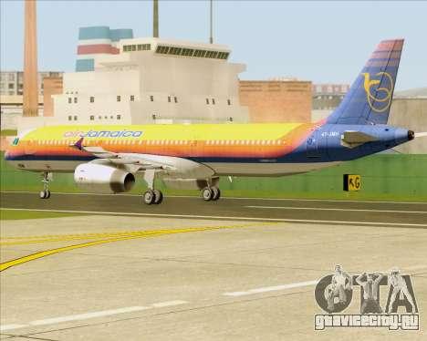Airbus A321-200 Air Jamaica для GTA San Andreas вид сзади