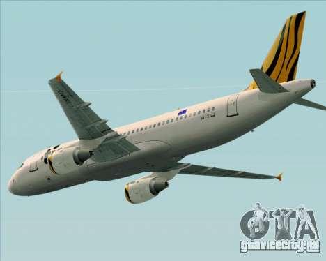 Airbus A320-200 Tigerair Australia для GTA San Andreas вид изнутри