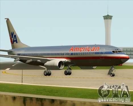 Boeing 737-800 American Airlines для GTA San Andreas вид сбоку