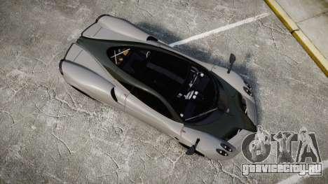 Pagani Huayra 2013 Carbon для GTA 4 вид справа